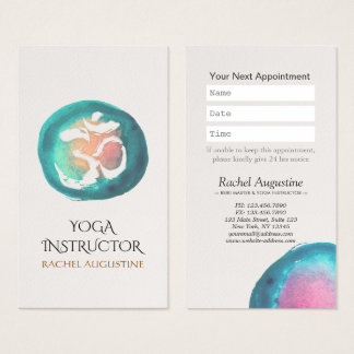 Rendez-vous d'instructeur de YOGA de symbole de Cartes De Visite