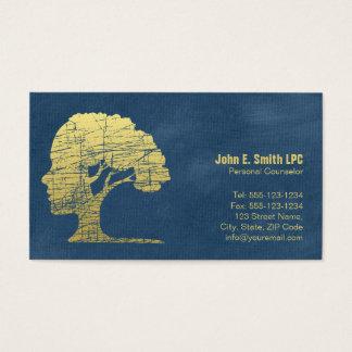 Rendez-vous personnel de conseiller de psychologue cartes de visite