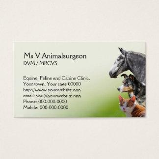 Rendez-vous vétérinaire et carte de visite de