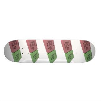 Rêne en tant que rhénium re et en indium plateau de skateboard
