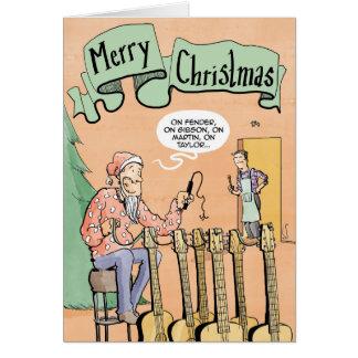 Renne de guitare de carte de Noël