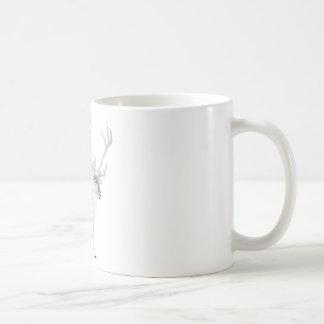 Renne de Pooping Mug Blanc
