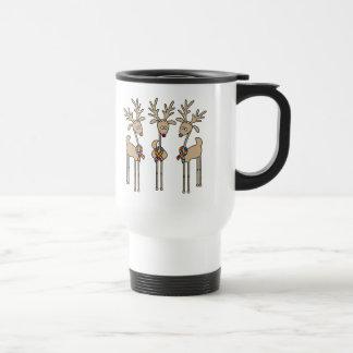 Renne de ruban de puzzle - sensibilisation sur mug de voyage en acier inoxydable