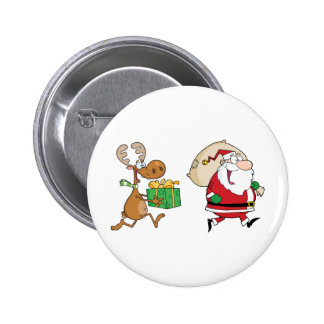 Renne fonctionnant avec Père Noël livrant des Badges