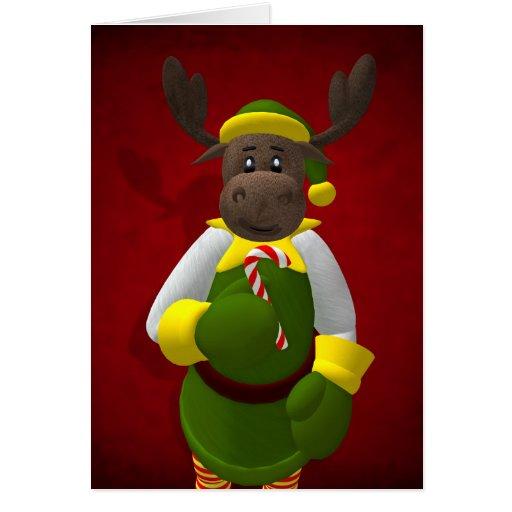 Renne lunatique Elf Carte