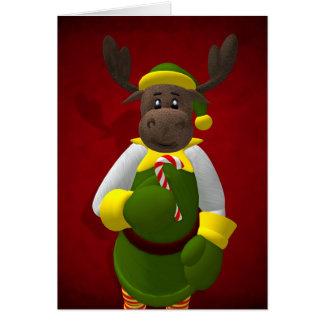 Renne lunatique Elf Carte De Vœux
