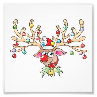 Renne mignon de Rudolf avec des invitations de Photographies D'art