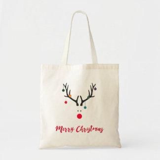 Renne minimaliste mignon drôle de Noël sur le Sac