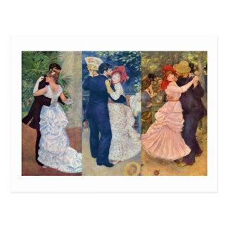 Renoir - danse dans la ville, le pays, et le Bougi Carte Postale