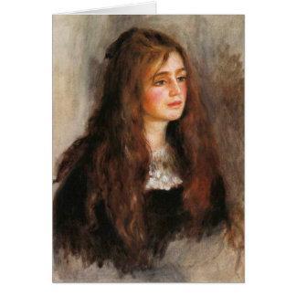 """Renoir """"portrait de Julie Manet """" Carte De Vœux"""