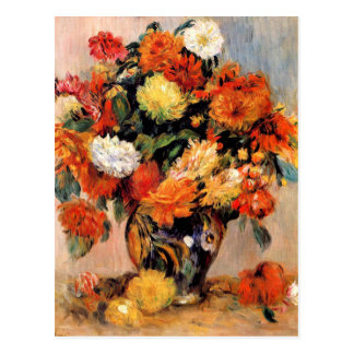 Renoir - vase de fleurs, 1884 carte postale
