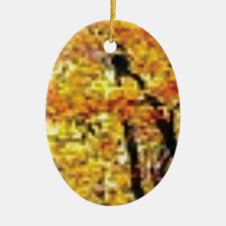 renommée d'or de chute ornement ovale en céramique