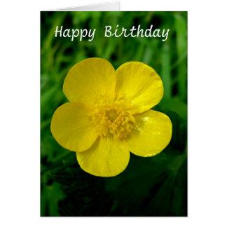 Renoncule - anniversaire carte de vœux