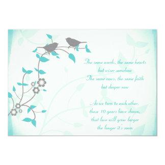 Renouvellement de voeu d'anniversaire de mariage carton d'invitation  12,7 cm x 17,78 cm
