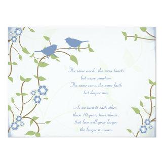 Renouvellement de voeu d'anniversaire de mariage carton d'invitation  16,51 cm x 22,22 cm