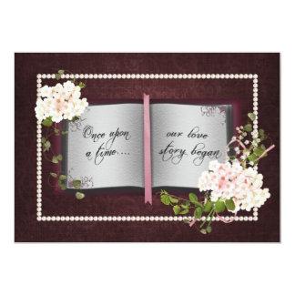 Renouvellement de voeu de mariage de livre de Love Carton D'invitation 12,7 Cm X 17,78 Cm