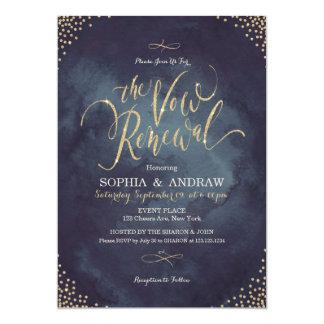 Renouvellement fascinant de voeu de calligraphie carton d'invitation  12,7 cm x 17,78 cm