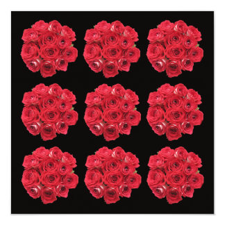 Renouvellement renversant de voeu de bouquets de carton d'invitation  13,33 cm