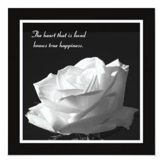Renouvellement renversant de voeu de rose blanc carton d'invitation  13,33 cm