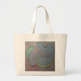 Rentrez son pastel d'huile d'image de mosaïque de grand tote bag