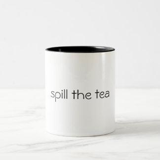 renversez le thé tasse 2 couleurs