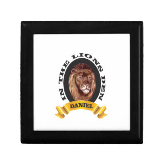 repaire des lions Daniel Petite Boîte À Bijoux Carrée