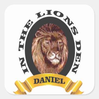 repaire des lions Daniel Sticker Carré