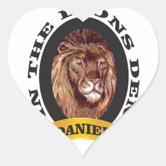 repaire des lions Daniel Sticker Cœur