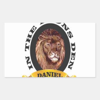 repaire des lions Daniel Sticker Rectangulaire