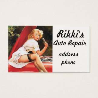 Réparation de pin-up de voiture cartes de visite