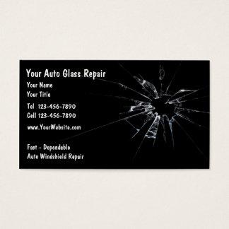Réparation en verre automatique nouvelle cartes de visite