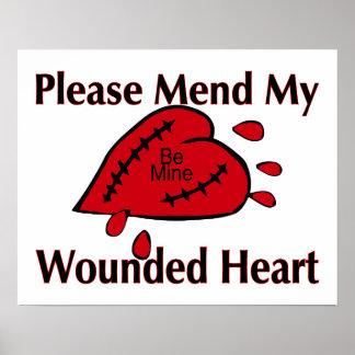Réparez mon coeur blessé affiche