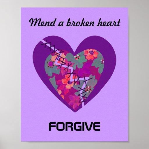 Réparez un coeur brisé affiches