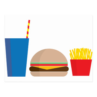 repas de rapide carte postale