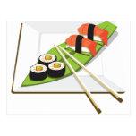 Repas de sushi cartes postales