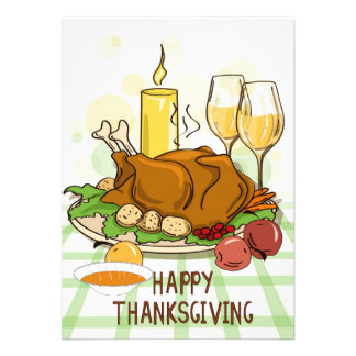 Repas mignon de dîner de la Turquie de Invitation Personnalisable