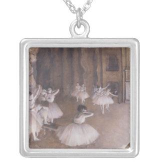 Répétition de ballet d'Edgar Degas   sur l'étape, Pendentif Carré