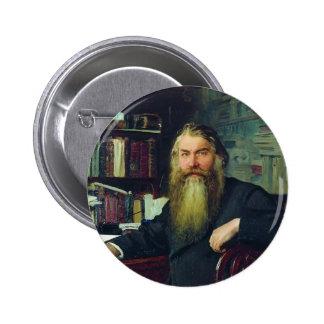 Repin-Portrait d'Ilya d'historien et d'archéologue Badges Avec Agrafe