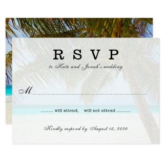 Réponse de mariage de palmier d'Oceanside Carton D'invitation 8,89 Cm X 12,70 Cm