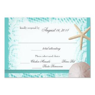 Réponse de mariage de thème d'océan cartons d'invitation personnalisés