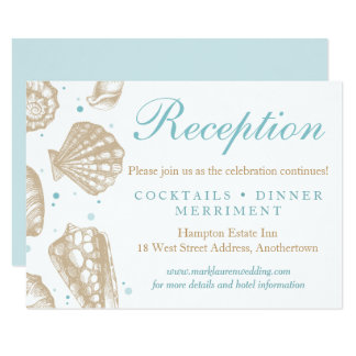 Réponse nautique de réception de mariage de carton d'invitation 8,89 cm x 12,70 cm