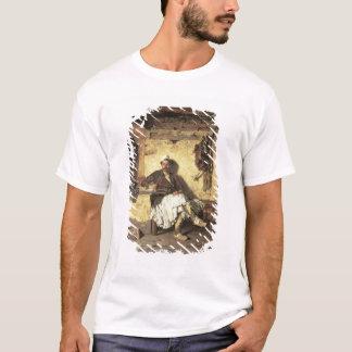 Repos albanais de sentinelle (Arnaueti) (huile sur T-shirt