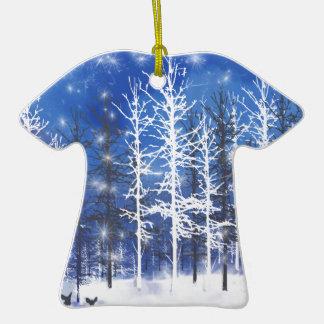 Repos de cerfs communs ornement t-shirt en céramique