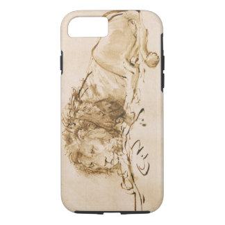 Repos de lion (à l'encre sur le papier) coque iPhone 7