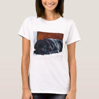 Repos noir de chiot de carlin t-shirt