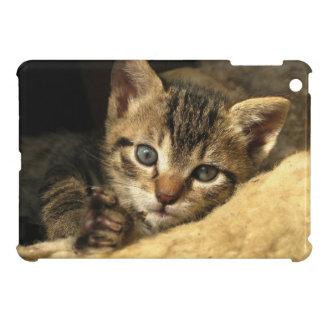 Repos tigré doux de chaton coques iPad mini