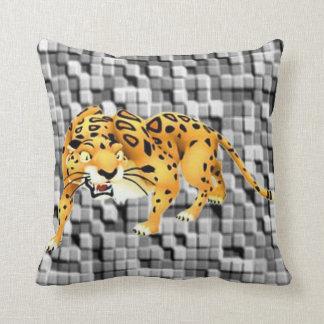 repose le léopard coussin