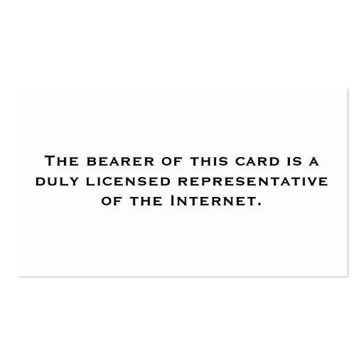Représentant autorisé : Internet Cartes De Visite Personnelles