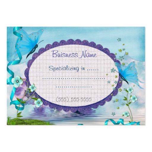 Représentant bleu de boutique ou petite entreprise cartes de visite professionnelles