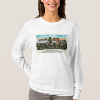 Représentation de la bataille de Lexington T-shirt